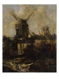 Le Moulin de la Galette, à Montmatre Giclée-Druck von Antoine Vollon