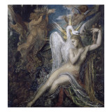 L&#233;da Reproduction proc&#233;d&#233; gicl&#233;e par Gustave Moreau