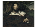 L'homme blessé Impression giclée par Gustave Courbet