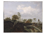 Landscape with a Peasant Family in Front of a Chapel Gicl&#233;e-Druck von Jan Van Der Heyden