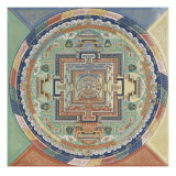 Mandala du Potala de Lhassa Reproduction proc&#233;d&#233; gicl&#233;e
