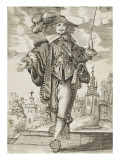 Man in Costume of the Time of Louis Xiii Front View Giclee Print