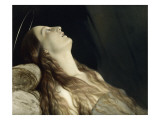 Louise Vernet, the Wife of the Artist on His Deathbed Giclee Print by Paul Delaroche