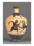 Lekythos Black Figure: Heracles and the Nemean Lion Giclee Print