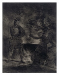 Macbeth Consulting the Witches from Shakespeare, 1825 Giclee Print by Eugene Delacroix
