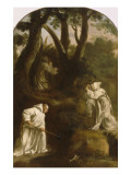 Life of St. Bruno. St. Bruno in Prayer in the Oratory Giclee Print by Eustache Le Sueur