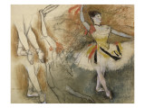 Feuille d'étude : danseuse au tambourin ou Danseuse espagnole Giclée-tryk af Edgar Degas