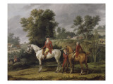 Le drt pour la chasse Giclee Print by Antoine Charles Horace Vernet