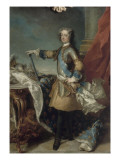 Louis XV, roi de France et de Navarre (1710-1774), vers 1723 Gicl&#233;e-Druck von Jean Baptiste Van Loo
