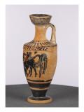 Lekythos Black Figure: Heracles and the Cretan Bull Giclee Print