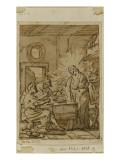 Jésus Christ et les Disciples d'Emmaüs Giclée-Druck von Joseph Marie Vien