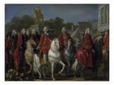 Inauguration de la statue de Louis XV Giclée-Druck von Joseph Marie Vien