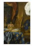 Louis XV (1710-1774) roi de France, âgé de 9 ans, en costume royal, assis sur le trône Giclee Print by Jean Ranc