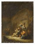 Scène d'intérieur avec joueur de cornemuse Giclée-Druck von Adrien Van Ostade