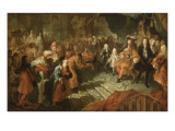 Louis Xiv Gets in the Hall of Mirrors at Versailles Giclee Print by Antoine Coypel