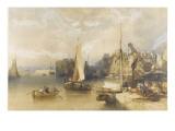 Vue de l'intérieur du port du Havre Giclee Print by William Callow