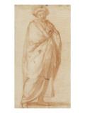 Homme drapé, debout, légèrement tourné vers la droite, les mains jointes Giclee Print by Matteo Rosselli