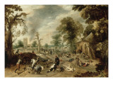 Pillage d'un village Giclée-Druck von Sebastian Vrancx