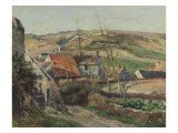 Landscape at Auvers Sur Oise, Houses in the Valley Giclee Print by Victor Vignon
