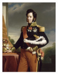 Louis-Philippe, roi des Fran&#231;ais (copie d&#39;apr&#232;s le portrait de Winterhalter) Reproduction proc&#233;d&#233; gicl&#233;e par Franz Xaver Winterhalter