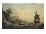 Marine et paysage sur les bords de la Méditérranée Giclée-Druck von Claude Joseph Vernet