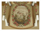 Louis Xvi Style Armchair: Children in Horn and Dog Giclee Print
