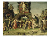 Mars et Vénus dit le Parnasse Giclee Print by Andrea Mantegna