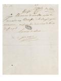 Letter of Cardinal De Rohan Louis Xvi, June 2, 1786 Giclee Print