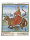 Liber Floridus by Lambert of Saint-Omer: Leviathan Reproduction procédé giclée
