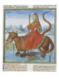 Liber Floridus by Lambert of Saint-Omer: Leviathan Giclee Print