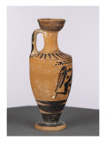 Lekythos Black Figure: Heracles and the Cretan Bull Giclee Print