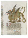 Liber Floridus by Lambert of Saint-Omer: Dragon Major Reproduction proc&#233;d&#233; gicl&#233;e