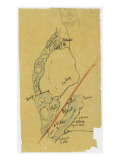 Map French Excavations at Elephantine Island in 1908 Giclee Print