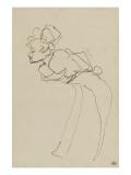 Marcelle Lender dans Chilpéric de profil Lámina giclée por Henri de Toulouse-Lautrec