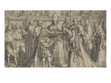 Marriage of Philip of Anjou and the Infanta of Spain Giclée-Druck von Joseph Vivien