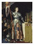 Jeanne d'Arc au sacre du roi Charles VII dans la cathédrale de Reims Giclée-Druck von Jean-Auguste-Dominique Ingres