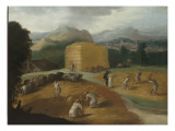 Paysage aux batteurs de bl&#233; Giclee Print by Nicolo dell&#39; Abate