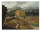 Paysage aux batteurs de blé Giclee Print by Nicolò dell' Abate