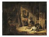 Intérieur d'une cuisine rustique Giclee Print by Willem Kalf
