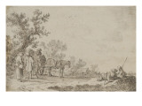 Paysage avec homme et femme en conversation Giclée-Druck von Jan Van Goyen