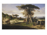 Paysage (Don Quichotte) Giclee Print by Alexandre Gabriel Decamps