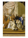 Life of St. Bruno - St. Bruno Took the Monastic Habit Giclee Print by Eustache Le Sueur