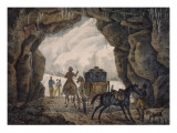 Dernière grotte de Simplon du côté de la France Giclee Print by Antoine Charles Horace Vernet