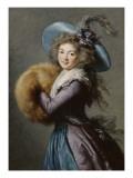 Madame Molé-Raymond de la Comédie italienne Giclee Print by Elisabeth Louise Vigée-LeBrun