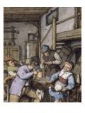 Intérieur d'une maison de campagne Giclée-Druck von Adrien Van Ostade