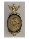 Medallion Pendant with Profiles of Roland Bonaparte and Marie-Felix Blanc Giclée-Premiumdruck von E. Vernier