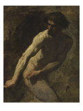 Homme tirant le canon Reproduction proc&#233;d&#233; gicl&#233;e par Thomas Couture