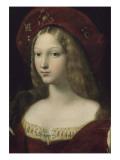 Jeanne d'Aragon Giclée-tryk af Raffaello Sanzio