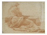 Man Reclining, Seen from Behind, Leaning on a Walking Giclee Print