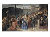 Lucrezia Borgia. Scene of the Insult (Act I, Scene V) Giclee Print by Louis Boulanger